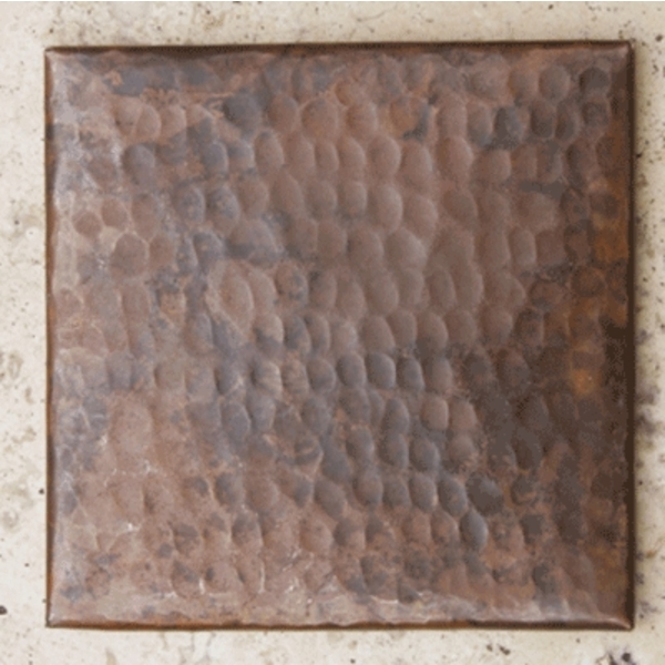 Plain Hammered Copper Tile by Pure Spa Copper Elements