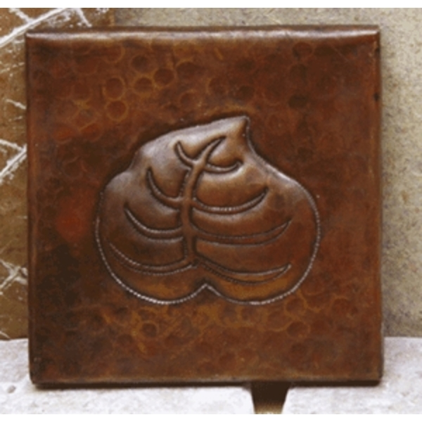 Copper Tile-Leaf by Pure Spa Copper Elements