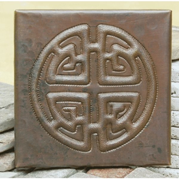 Circle Medallion Tile by Pure Spa Copper Elements