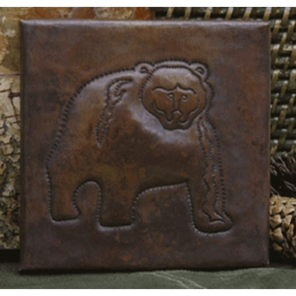 Kodiac Bear Copper Tile by Pure Spa Copper Elements