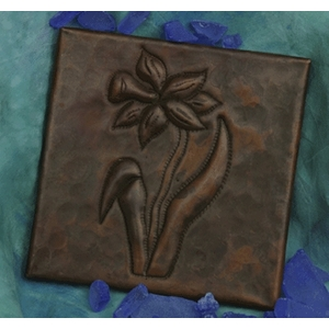 Daffodil Copper Tile by Pure Spa Copper Elements