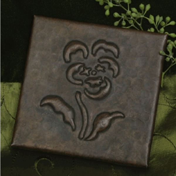 Flower Copper Tile by Pure Spa Copper Elements