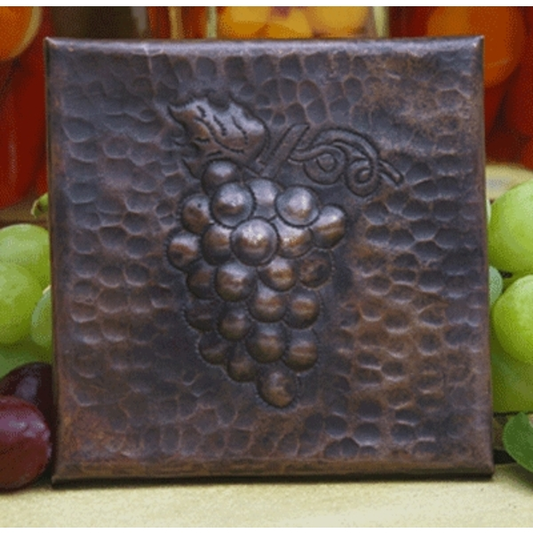 Grapes Copper Tile by Pure Spa Copper Elements