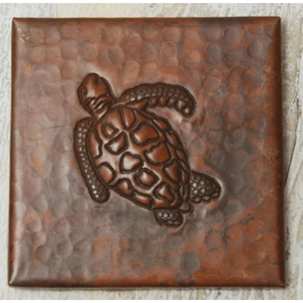 Sea Turtle Copper Tile by Pure Spa Copper Elements