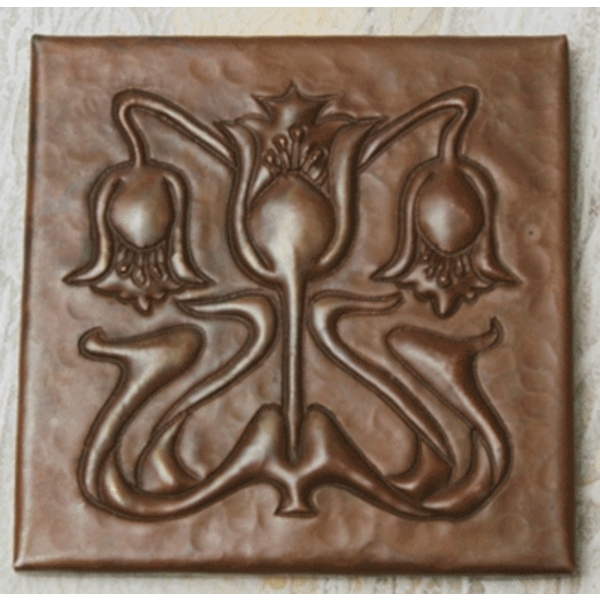 Floral A&C Copper Tile by Pure Spa Copper Elements