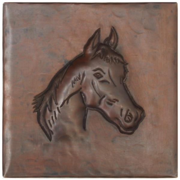 Horse Head Copper Tile by Pure Spa Copper Elements