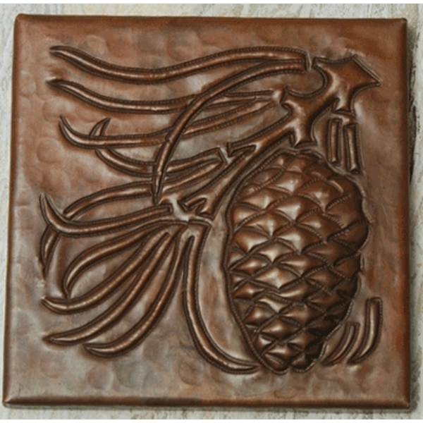 Pinecone Arts and Crafts Copper Tile by Pure Spa Copper Elements
