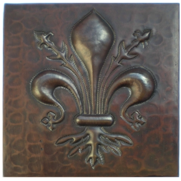 Fleur De Lis Vine Copper Tile by Pure Spa Copper Elements