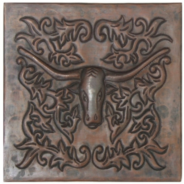 Ornate Longhorn Copper Tile by Pure Spa Copper Elements