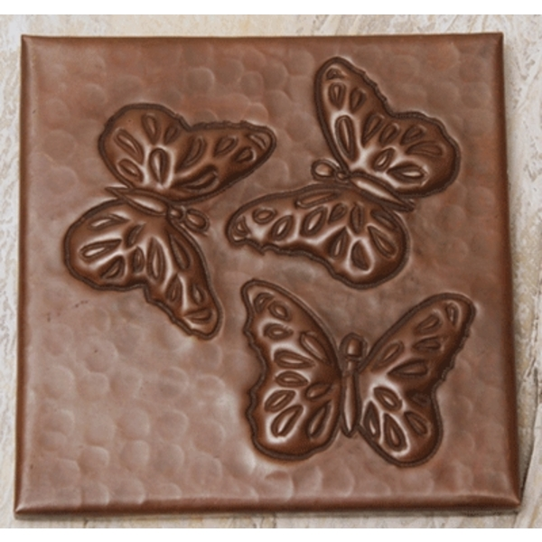Butterflies Copper Tile by Pure Spa Copper Elements