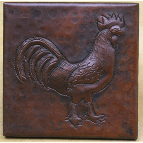 Rooster Copper Tile by Pure Spa Copper Elements