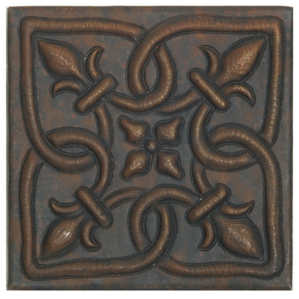 Infinity Fleur De Lis Copper Tile by Pure Spa Copper Elements