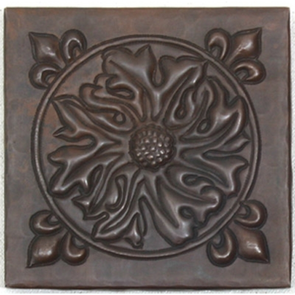 Floral Burst Copper Tile by Pure Spa Copper Elements