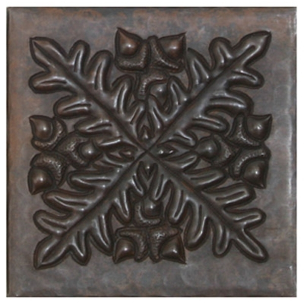 AcornLeaf Medallion Copper Tile by Pure Spa Copper Elements