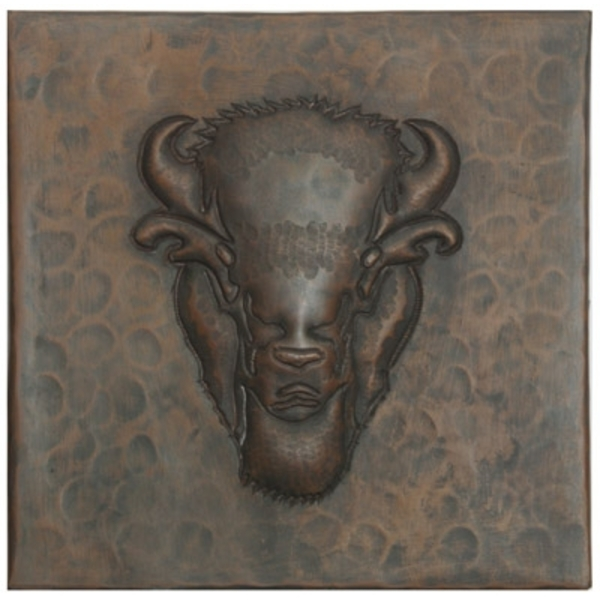Buffalo Head Copper Tile by Pure Spa Copper Elements