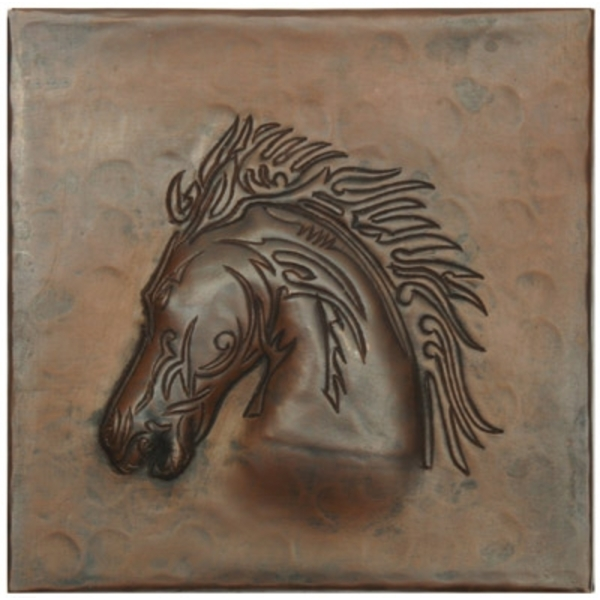 Stallion Head Copper Tile by Pure Spa Copper Elements