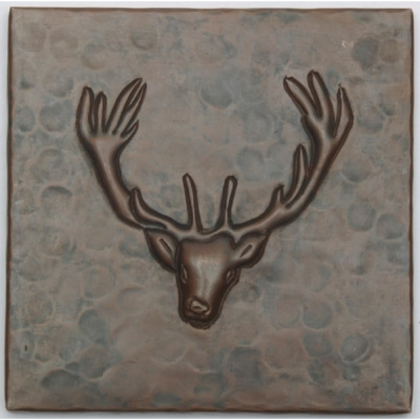 Deer Head Copper Tile by Pure Spa Copper Elements