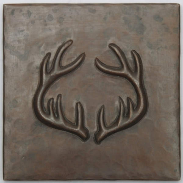 Antlers Copper Tile by Pure Spa Copper Elements