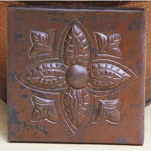 Floral Copper Tiles by Pure Spa Copper Elements