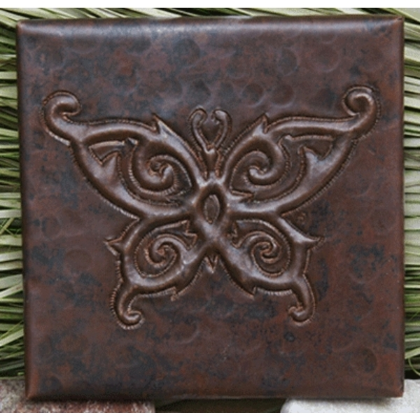 Butterfly Copper Tiles by Pure Spa Copper Elements