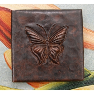 2x2 Butterfly Tile by Pure Spa Copper Elements