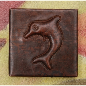 2x2 Dolphin Tile by Pure Spa Copper Elements