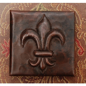 2x2 Fleur De Lis Tile by Pure Spa Copper Elements