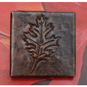 2x2 Oak Leaf Tile by Pure Spa Copper Elements