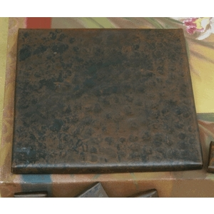 "6""x 6"" Plain Hammered Tile by Pure Spa Copper Elements"