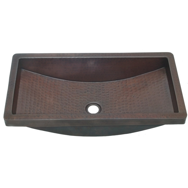 Copper TroughKitchen Prep Sink with Wrap Around Apron by Pure Spa Copper Elements