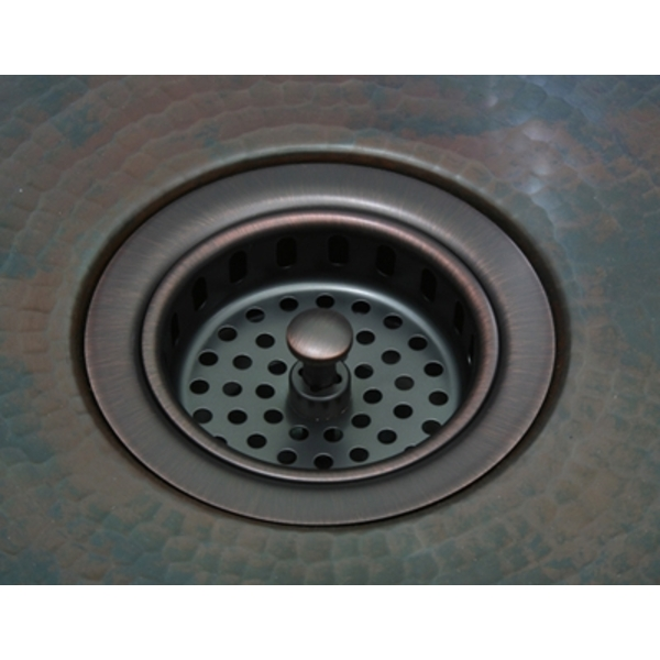 "3.5"" Kitchen Strainer Basket by Pure Spa Copper Elements"