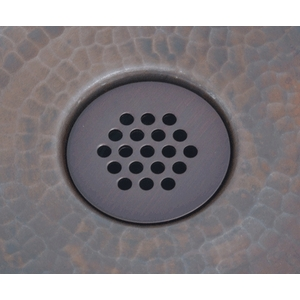 Bath Drain Lavatory BathVessel Sink 19 Hole Grid Drain by Pure Spa Copper Elements