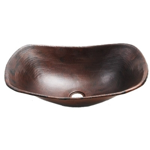 "Copper Sleigh Vessel Sink 16"" by Pure Spa Copper Elements <font color=FFFFFF>(SLV16)</font>"