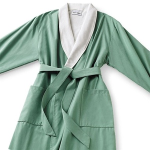 Microfiber Shawl Collar Robe - Iceberg Off-White Cotton-Poly Lining (MS1152C-I)