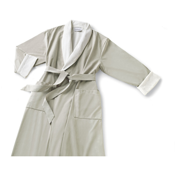 Microfiber Shawl Collar Robe - Parchment Off-White Cotton-Poly Lining (MS1152C-PPARCH)