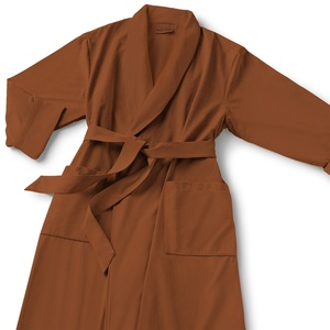 Microfiber Shawl Collar Robe - Terracotta Terracotta Cotton-Poly Lining (MS1152C-PTERR)