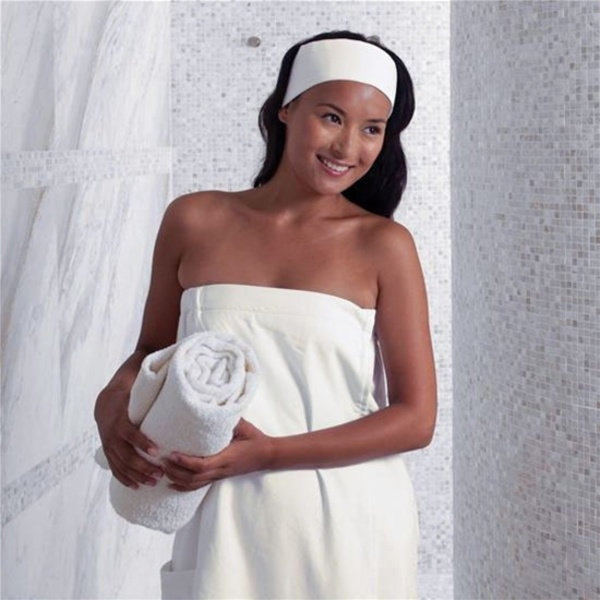 Spa Wrap - Microfiber - Woman's White (MR1032)