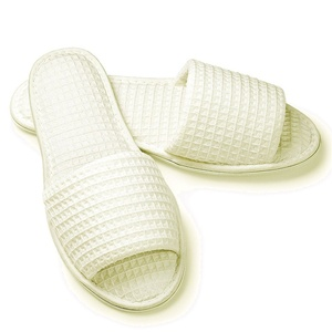 Slippers - Open Toe - Basic Waffle Woman's Ecru (4130CWO)