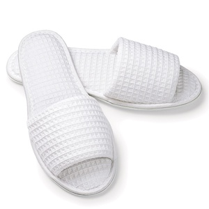 Slippers - Open Toe - Basic Waffle Woman's White (4130CWO)
