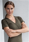 Women's Cross-over T Top by Noel Asmar Uniforms - OVERSTOCK