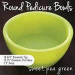 Round Pedicure Bowl Sweet Pea Green Durable Resin Material - The New Signature Collection by Noel Asmar (PB1011SP)