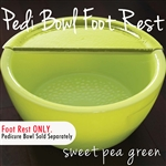Foot Rest for Round Pedicure Bowl Sweet Pea Green Durable Resin Material - The New Signature Collection by Noel Asmar (PB1012SP)
