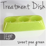Treatment Dish Sweet Pea Green Durable Resin Material - The New Signature Collection by Noel Asmar (PB1009SP)