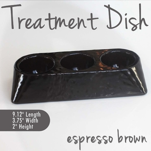 Treatment Dish Espresso Brown Durable Resin Material - The New Signature Collection by Noel Asmar (PB1009EX)