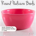 Round Pedicure Bowl Pink Durable Resin Material - The New Signature Collection by Noel Asmar (PB2011Z)