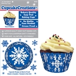 Bakery Quality Cupcake Baking Cups - Snowflake (32 pieces)