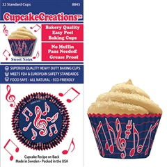 Bakery Quality Cupcake Baking Cups - Sweet Notes (32 pieces)