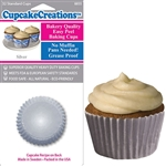 Bakery Quality Cupcake Baking Cups -  Silver (32 pieces)