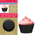 Bakery Quality Cupcake Baking Cups -  Black (32 pieces)