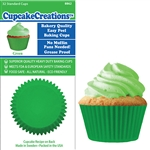 Bakery Quality Cupcake Baking Cups - Green (32 pieces)
